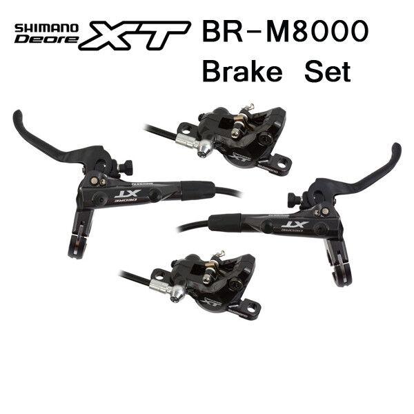 SHIMANO Deore XT M8000 Bremse VR&HR Set m o Kühlrippen