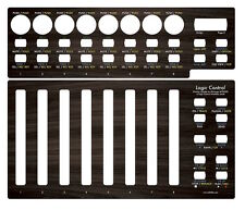 "Overlay (""dark wood"") für Behringer BCF2000 in Logic Control emulation mode"