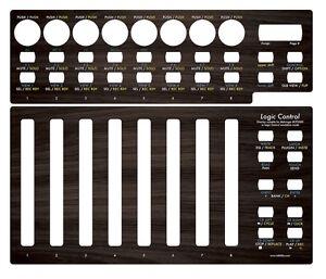 Overlay-034-dark-wood-034-fuer-Behringer-BCF2000-in-Logic-Control-emulation-mode