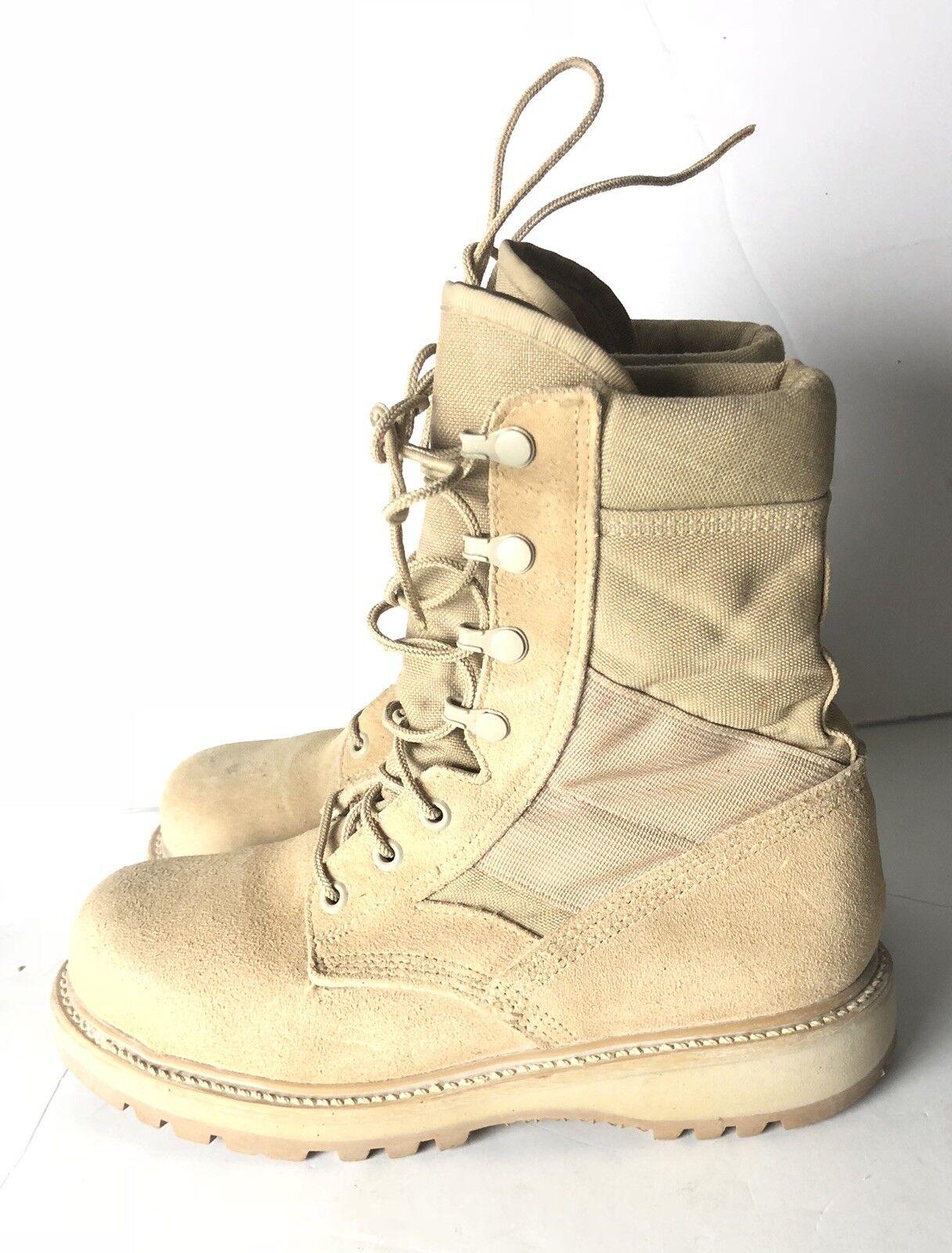 Men's 6R US Army Desert Tan Hot Weather Boots, Vibram Sole, USGI, Steel Toe