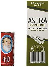 100 ASTRA SUPERIOR PLATINUM DOUBLE Taglio Lamette + GRATIS Arko Crema da Barba