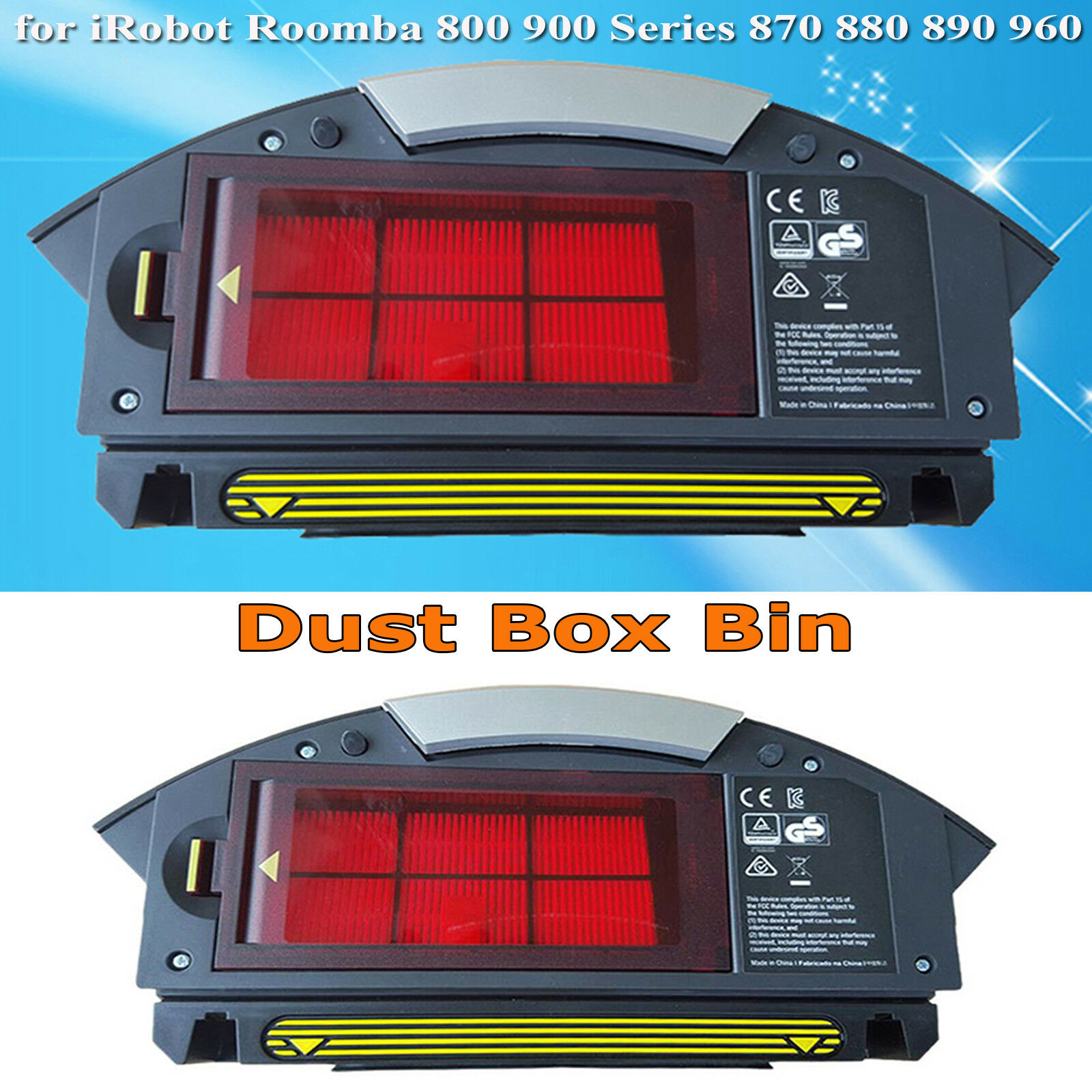 Dust Box Bin for iRobot Roomba 800 900 Series 870 880 960 980 Vacuum Cleaner