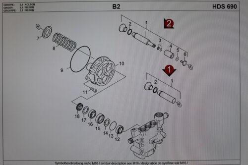 Pumpenset pump set für KÄRCHER HDS 690//HDS 760//HDS 755 //HDS 990 2.880-283.0