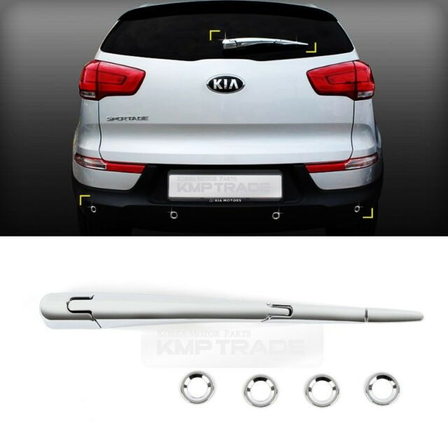 Chrome Rear Window Wiper PDC Hole Molding Cover 8Pcs For KIA 2011-16 Sportage R