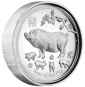 AUSTRALIAN 2018 Lunar Year of the Dog 1OZ $1 SILVER HIGH RELIEF COIN Australia