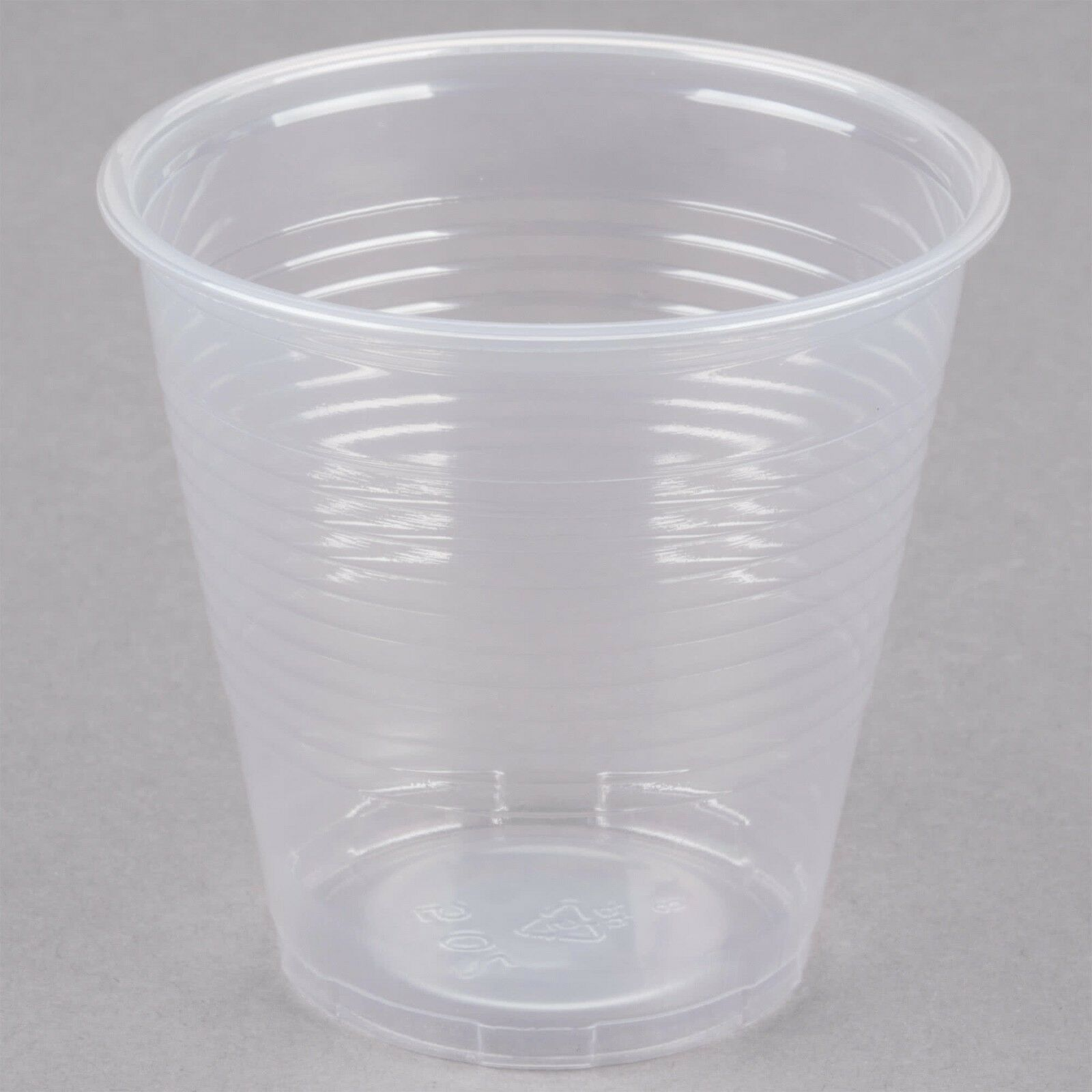 Carton of 2500  Disposable Plastic Cups 5oz Cafeteria Party Cup Translucent