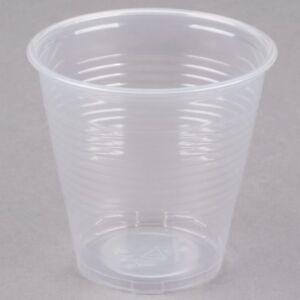 Fiable Carton De 2500! Jetables Coupes En Plastique 5 Oz (environ 141.75 G) Cafeteria Party Cup Translucide-afficher Le Titre D'origine