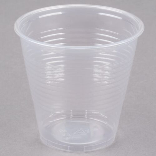500 PACK Disposable Plastic Cups 5oz Cafeteria Party Drinking Cup Translucent