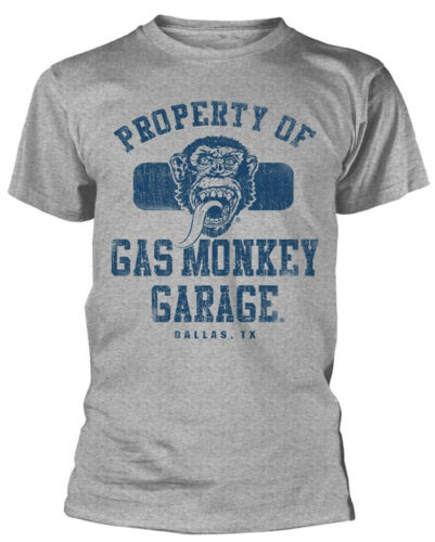 NEW /& OFFICIAL! Gas Monkey Garage /'Property of GMG Dallas/' T-Shirt
