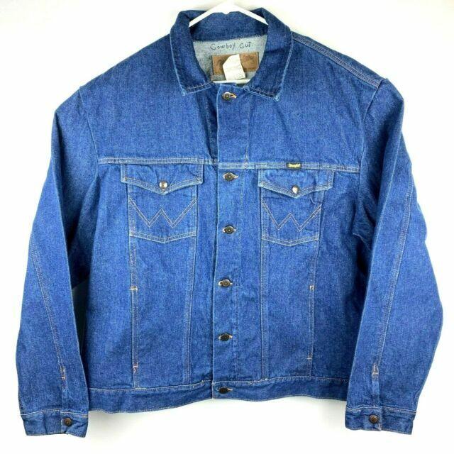 Wrangler Jean Jacket Western Outerwear Men's Size XL 4 Pockets Unlined New NWT