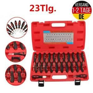 23 X Entriegelungs Werkzeug Satz KFZ Stecker Auspinwerkzeug ISO Pin Lösewerkzeug