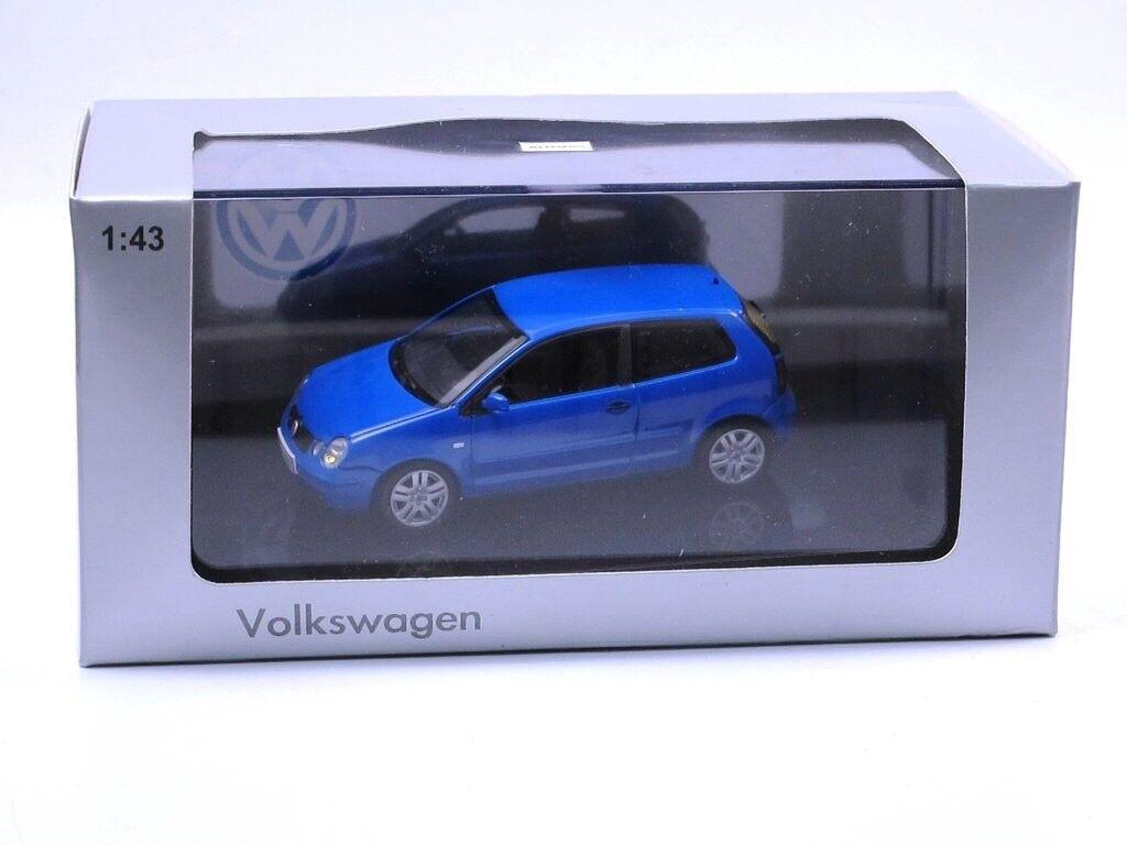 RARE VW POLO 9N IV 2002 SPORT TDI FSI SUMMER blueE 1 43 AUTOART (DEALER MODEL)