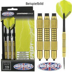 McKicks-Dart-Speedy-Yellow-Brass-Messing-19g-24g-Steel-Dart-Komplett-Set-NEU