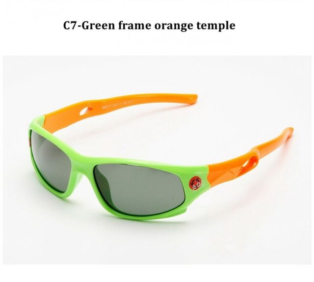 Sunglasses New Kids Sport Shades Wraps Locs UV400 Boys Girls Black KD32A