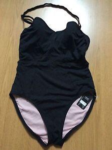 Next Tankini Set Black Swimwear Size 32A//12,32B//18