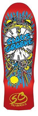 Santa Cruz Claus Grabke EXPLODING CLOCK LIMITED EDITION Skateboard Deck RED