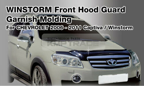 San Front Hood Guard Bug Shield Molding For SSANGYONG 2004-2006 Musso Sports