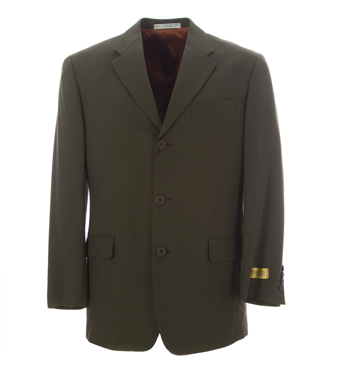COVARRA Men's Dark Green Three Button Suit Blazer 16902S Size 38  NEW