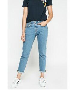 Levi/'s W24 L28  Taper Fusele Stretch 5400537397492 Damen Jeans Hose Blau L19