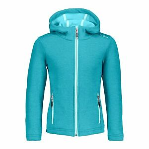 Intelligent Cmp Polaire Fleece Girl Jacket Fix Hood Bleu Respirant Élastique Saumon-afficher Le Titre D'origine