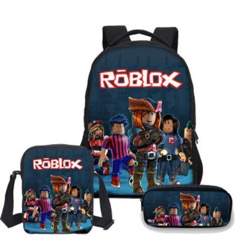 2019 Roblox Schoolbag 3PCS Backpack Student Bookbag Boy Handbags Travelbag Hot