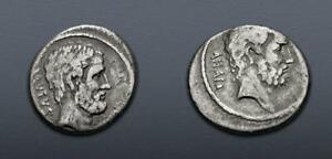 Q. Servilius Caepio (M. Junius) Brutus. 54 BC. AR Denarius (17mm, 3.87 g, 1h).
