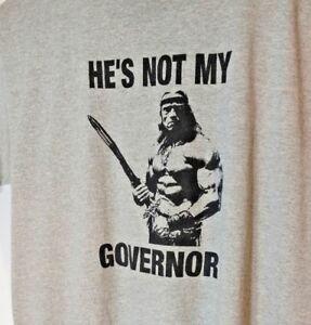 arnold-schwarzenegger-not-my-governor-mens-tshirt-gray-size-XL-GUC-Govenator