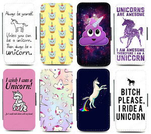 online store db7b7 86cb5 Details about Unicorn Wallet Phone case for iPhone & Galaxy cute rainbow  funny poop emoji quot