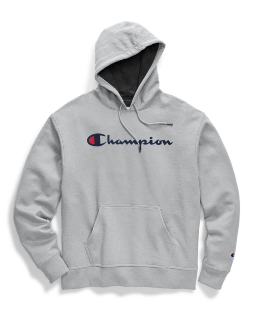 295b8dd35f15 Champion Men s PowerBlend Pullover Hoodie Script Logo Gf89h Y06794 ...