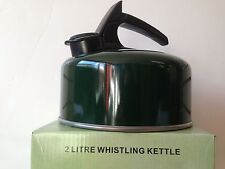 GREEN WHISTLING KETTLE 2L  NEW& BOXED FOR CAMPING GAS