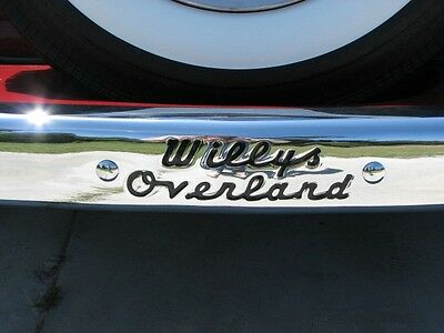 bumper decal 1948 1949 Willys jeepster truck,wagon,panel