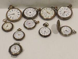 Konv-7-10-Silver-Pocket-Watches-Remontoir-Cylindre-Rubis-Watchmaker-Discount