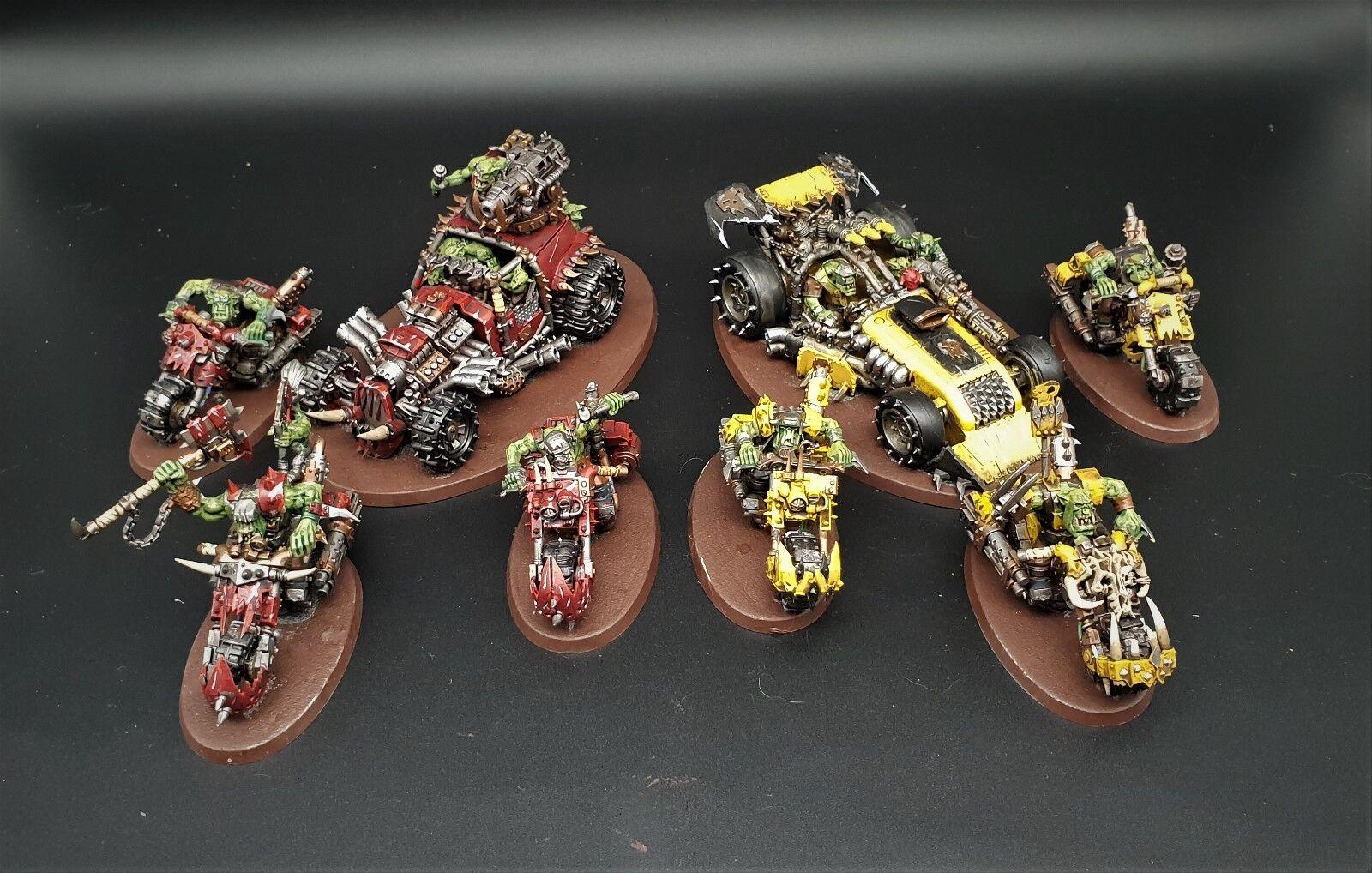 Warhammer 40k Orks speed freeks box set  pro painted made to order
