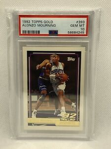 1992 Topps Gold Alonzo Mourning ROOKIE RC #393 PSA 10 GEM MINT