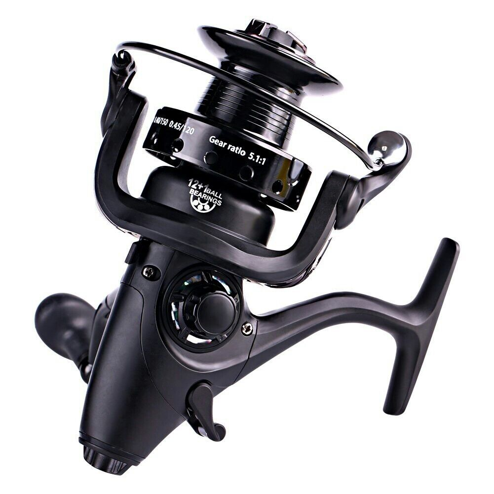 Sougayilang Spinning Reel with 5.1 1 Gear Ratio 12+1bb Metal Body Powful Smooth