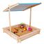miniature 1 - Bac à sable KIDS bois avec toit ouvrant