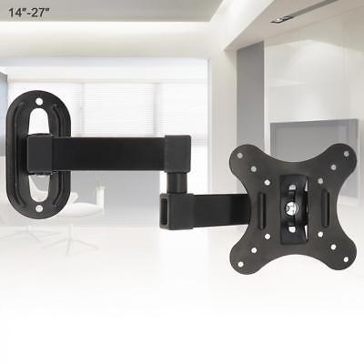 Full Motion TV Wall Mount Articulating Bracket 14 21 27 LED LCD FlatScreen 14-27