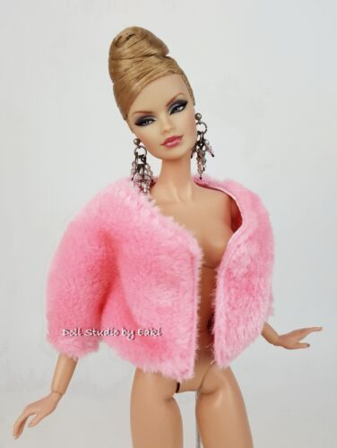 Pink Blue Fur Jacket Outfit Gown Silkstone Barbie Fashion Royalty Licca Blythe