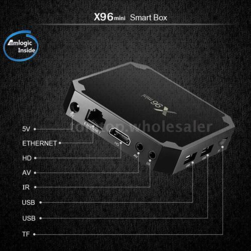 X96 Mini TV Box 4K Media Player Android 7.1.2 S905W Quad Core WiFi HD 2GB 16GB