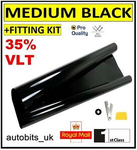 pro-anti-rayures-FILM-TEINTAGE-de-vitre-voiture-Noir-Fume-35-76cm-x-3m-NEUF
