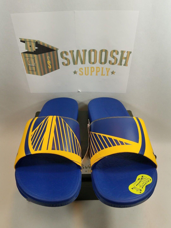 Nike Benassi Solarsoft NBA golden State Warriors Slide Sandal Size 15 917551 701