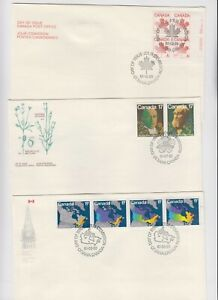 CANADA 11 UNADDR CACHET COVERS ASSORTED XF $$$$$$$