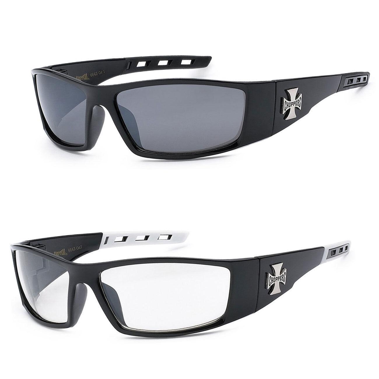 e1c00c102c385 Details about 2 PAIR COMBO Chopper Sunglasses Motorcycle Glasses Smoke   Clear  Lens C50