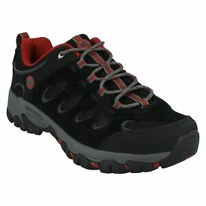 Hiking Shoes Up Lace Ridgepass Black Suede Trainers red Walking Merrell Mens wFz100