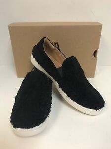 6dbf6a1cd5d Details about UGG Ricci Black Faux Sheepskin Women's Slipon Sneaker