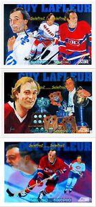 3x-SCORE-1990-GUY-LaFLEUR-NORDIQUES-CANADIENS-RANGERS-292-293-401-MINT-LOT