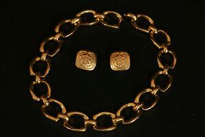 Bijoux Inès de La Fressange- boucles d'oreil et colier - jewlery Inès de La Fres