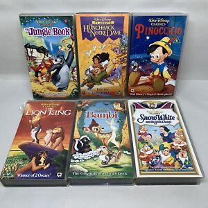 Disney-VHS-Video-Bundle-Jungle-Book-Lion-King-Bambi-Pinnochio-Snow-White-1123A