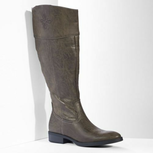 Simply Vera Wang Emsley Smoke Knee High Tall Stiefel