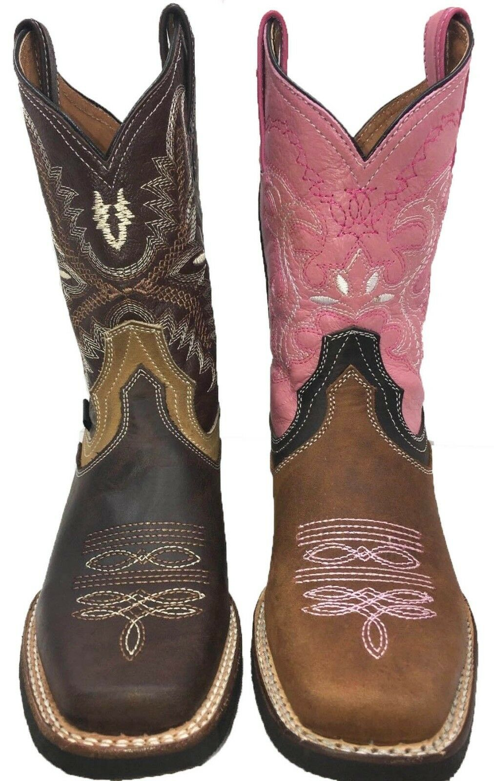 Dedo del pie cuadrado para mujer Bota Vaquera Occidental
